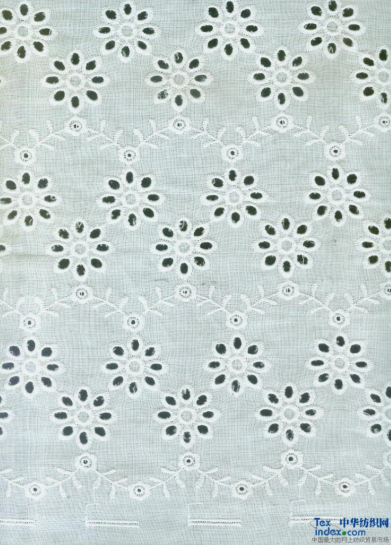 特丽维优质棉布绣花花边
