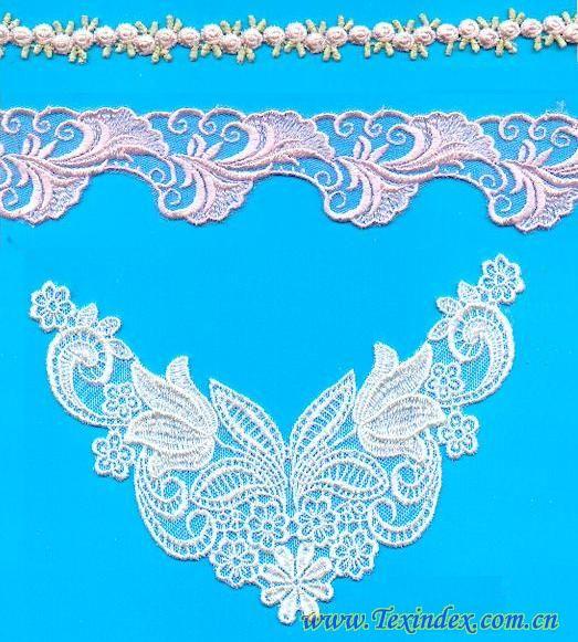 刺绣蕾丝  供应商 嘉兴天菲纺织有限公司 所属分类 辅料,花边  刺绣蕾