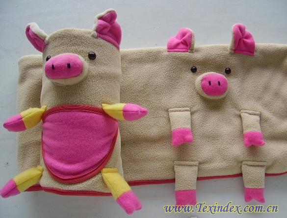 小猪玩具毯子