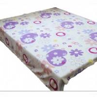 圆网印花珊瑚绒毯