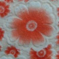 烂花珊瑚绒立体印花