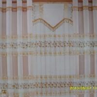绣花窗帘布