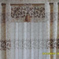 印花窗帘布