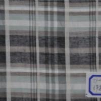 真丝棉提花色织布