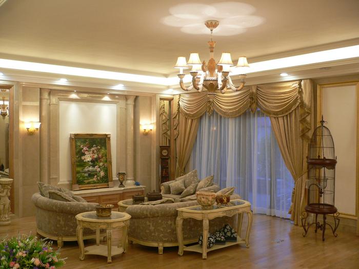 大厅窗帘装修效果图