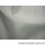 涤棉色织格子布