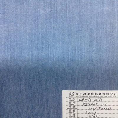 浅靛蓝天丝牛仔面料图片