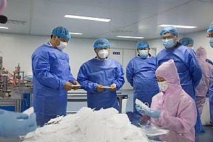 孚日集团进军医用物资领域--孚日安防科技口罩防护服生产线试运行