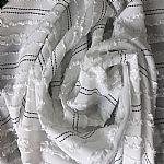 提花剪花黑丝横条雪纺面料