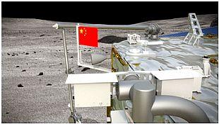 """华茂集团研发的""""织物版""""国旗在月球上升起!"""
